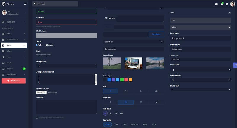 The UI components provided by Atlantis Lite design crafted in Flask Framework by AppSeed.