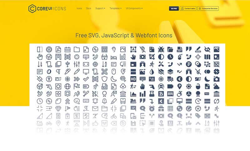 CoreUI - Open-source Icons Set.