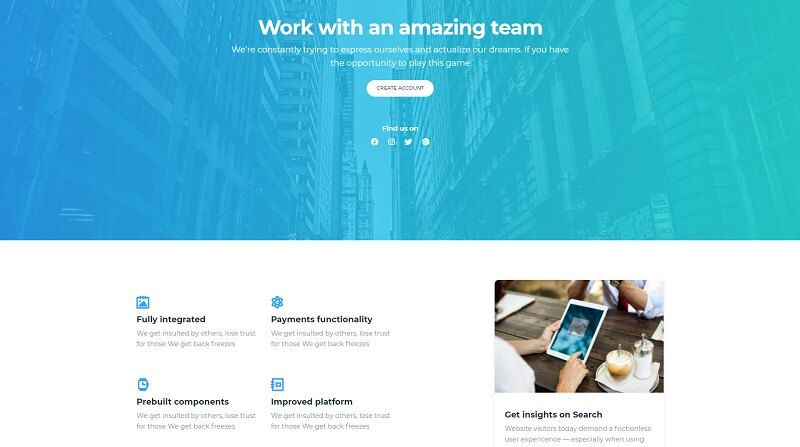 Now UI Design System PRO - About Us Page.
