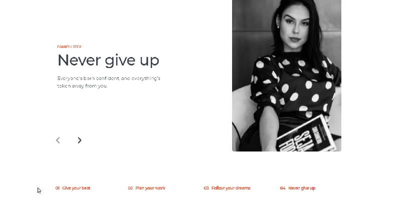A nice girl looking at the page user provided by Now UI Design System PRO, a modern Bootstrap 5 design from Creative-Tim.