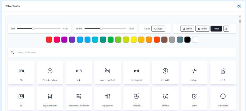 Berry React - UI Kit Tabler Icons
