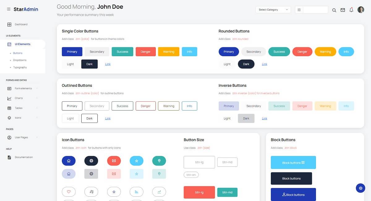 Star Admin - Bootstrap 5 Elements.
