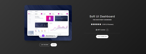 Soft UI Dashboard - Free Bootstrap 5 Template